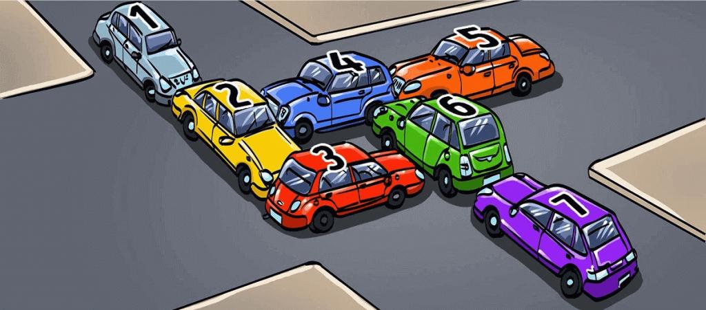 1 Perces Teszt - Melyik Autónak Kéne Először Elmozdulnia Hogy Megszűnjön a Dugó? 1