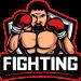 fighting-mascot logo